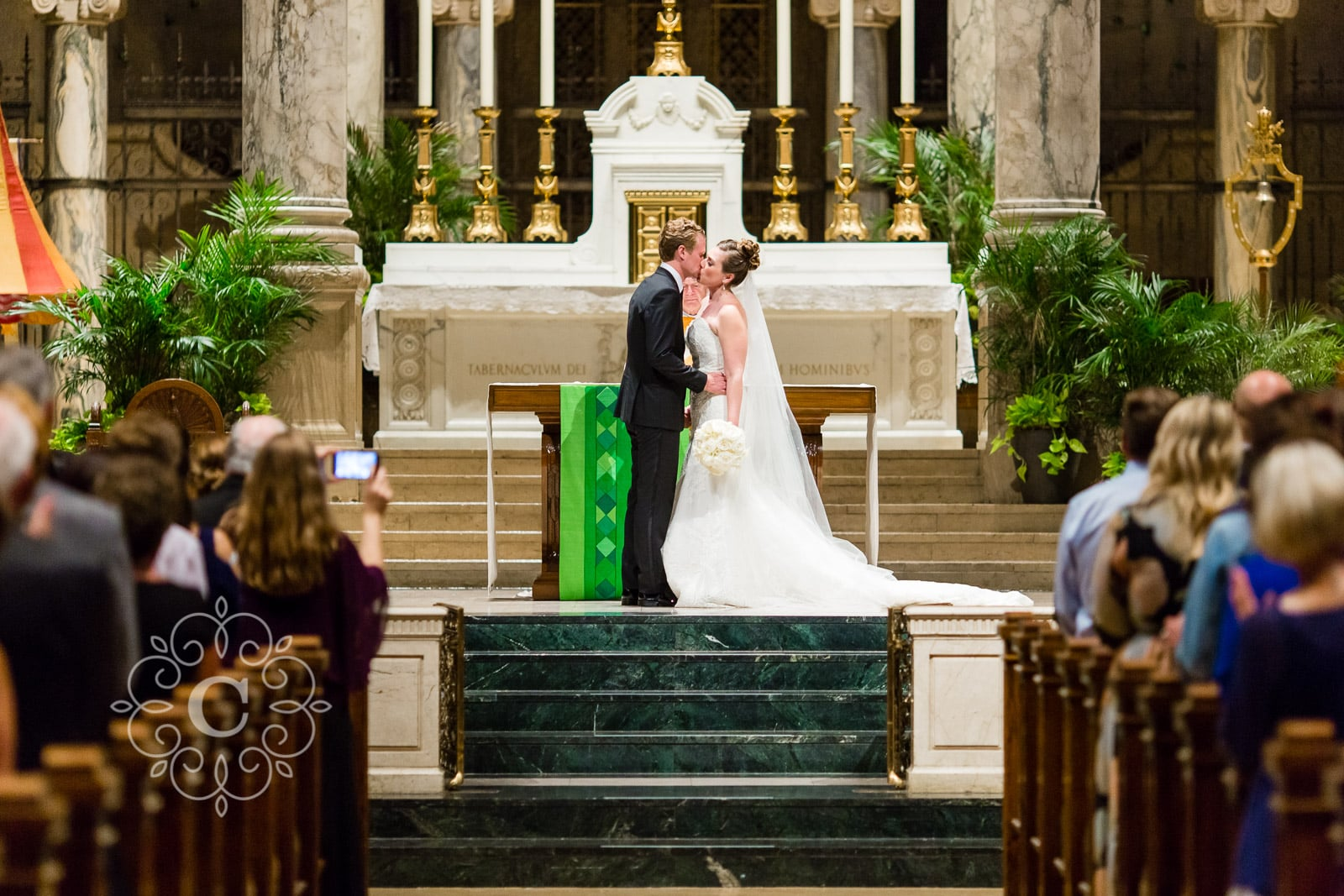 Minneapolis Basilica Wedding Photo