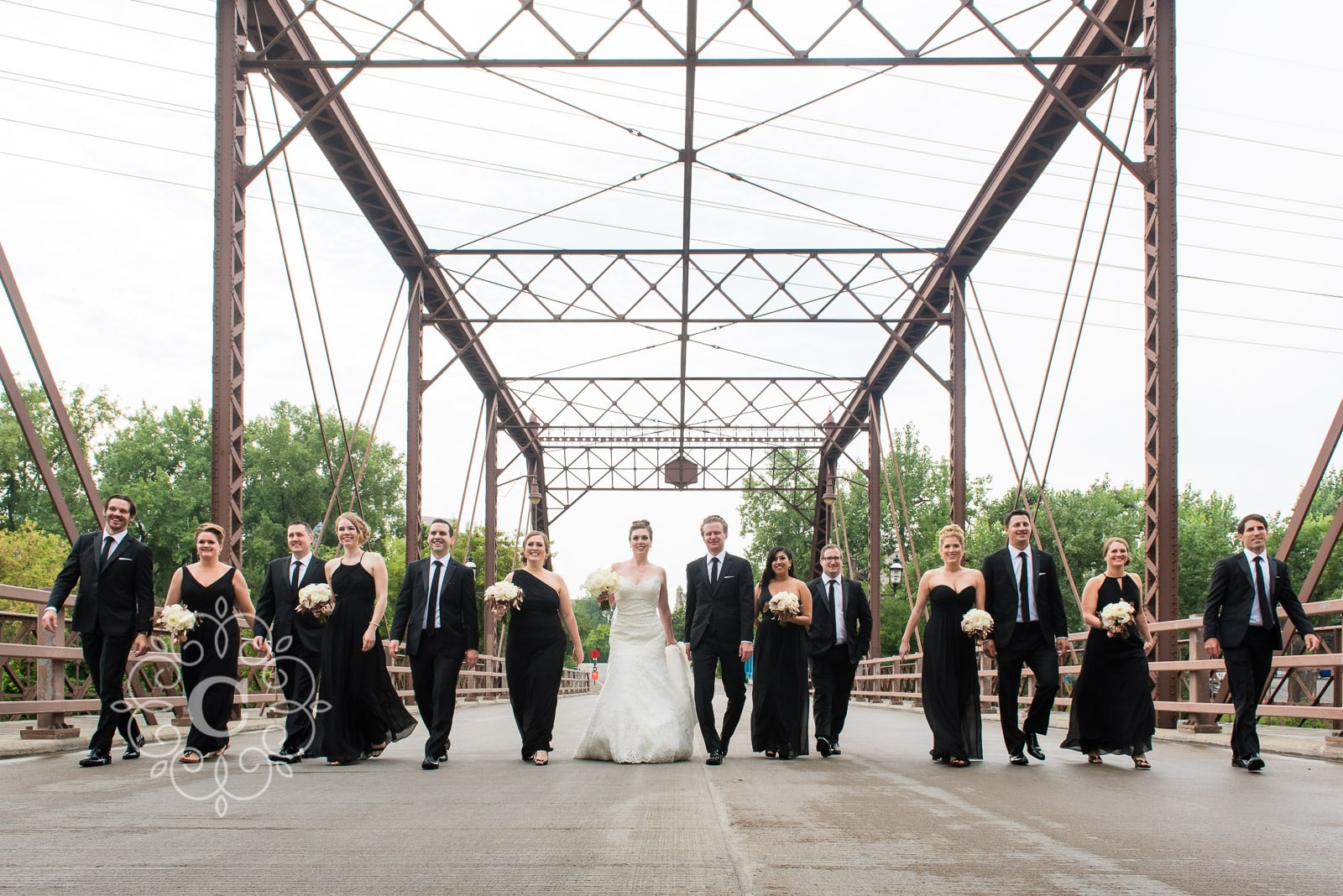 St Anthony Main Iron Bridge Wedding Photo