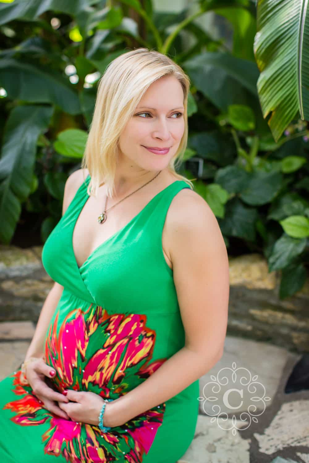 Marjorie McNeely Conservatory Maternity Photo