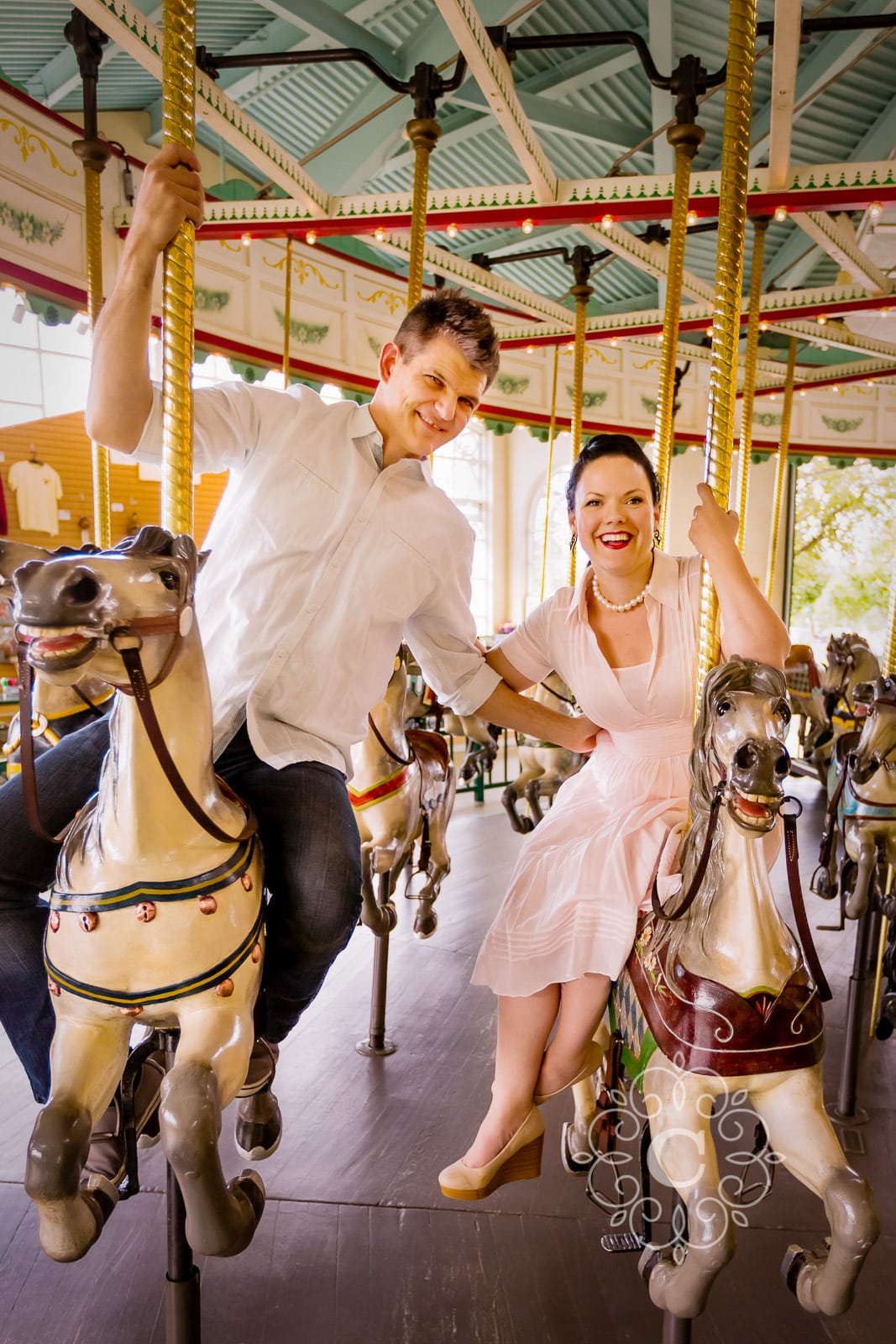 Amusement Park Engagement Session