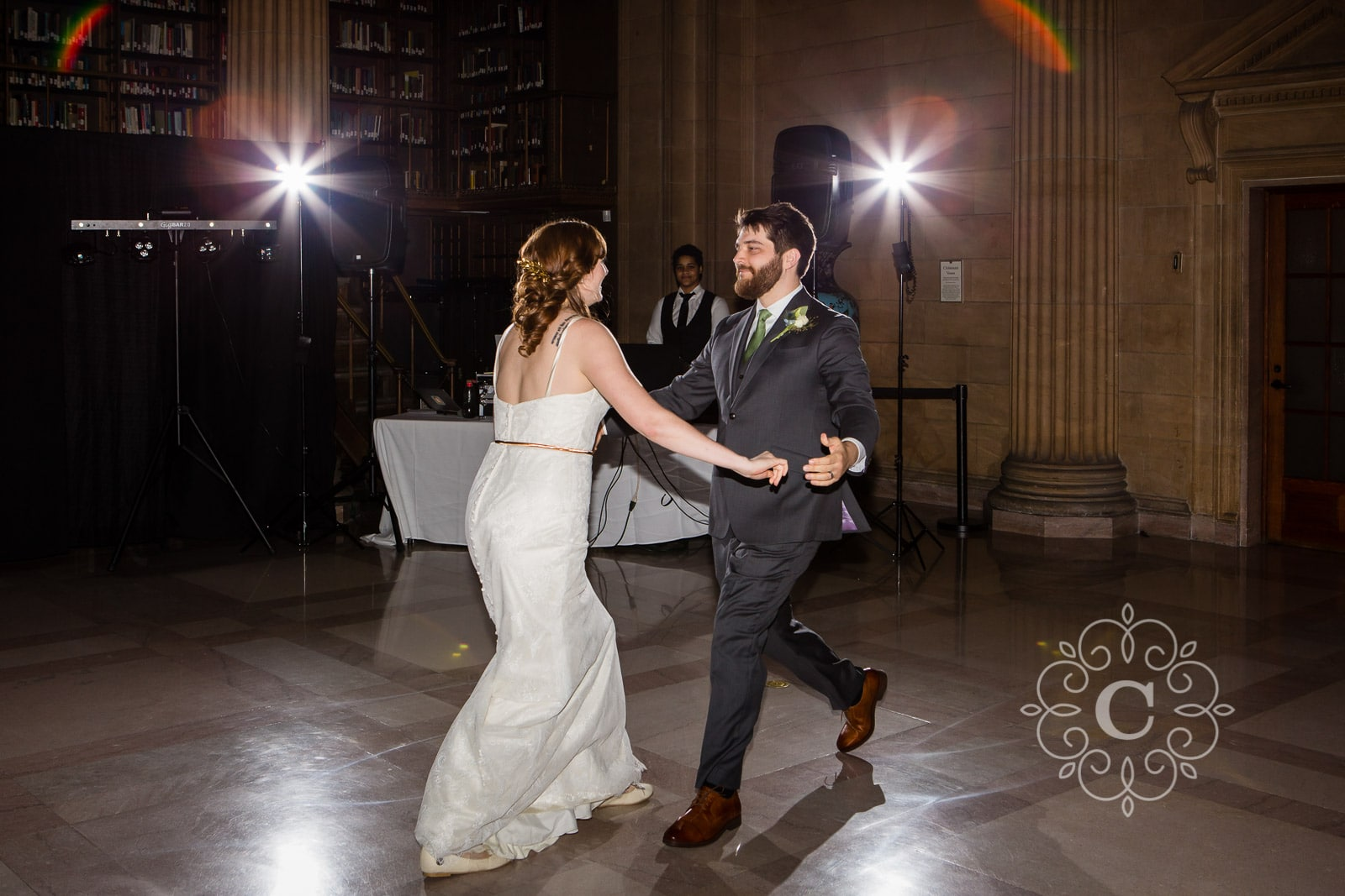 James J Hill Library St Paul Wedding Photography