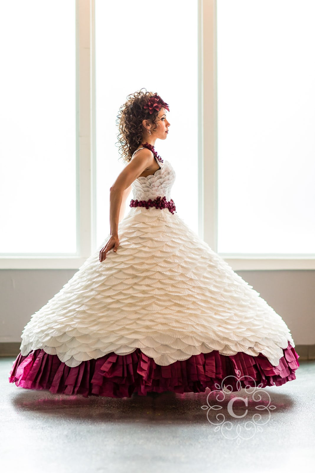 Fine Art Paper Dress Styled Photoshoot