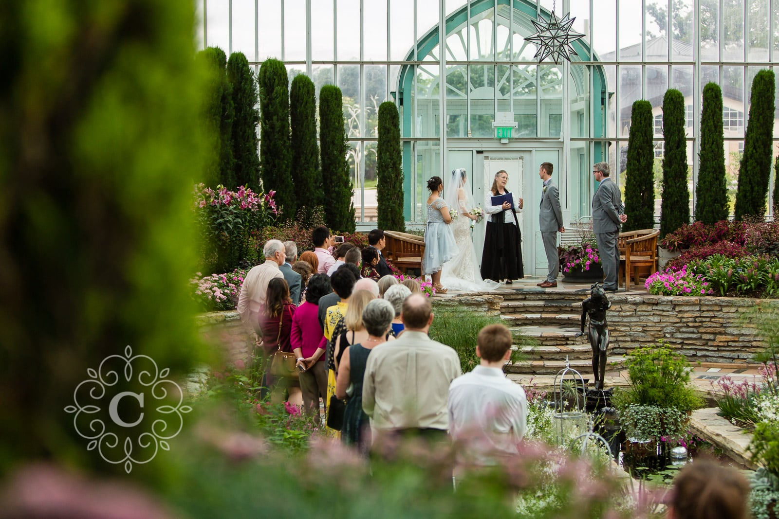 Marjorie McNeely Conservatory St Paul MN Wedding Photo