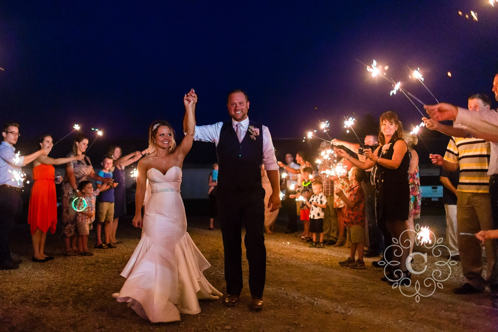 Minnesota Barn Sparkler Wedding Photos
