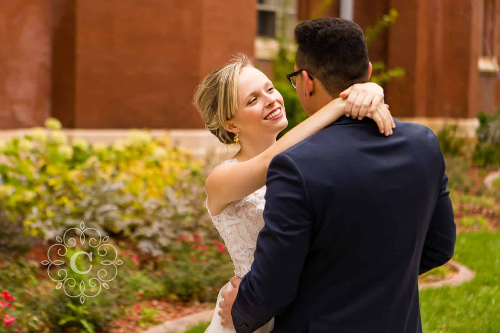 Ascension Catholic Church Minneapolis Wedding Photo