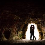 Stillwater MN Cave Engagement Photo