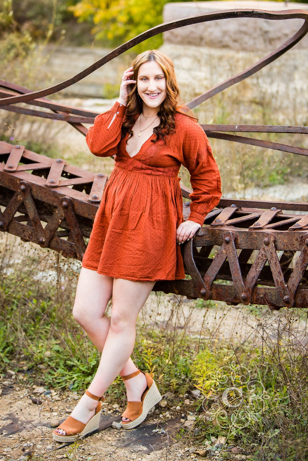 Mill Ruins Park Senior Portrait Photo