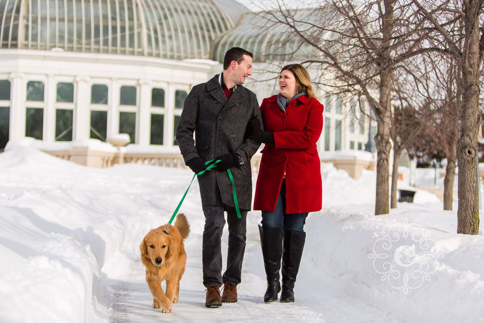 Como Park Winter Dog Engagement Photos