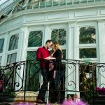 Sunken Garden Como Conservatory Engagement Photo