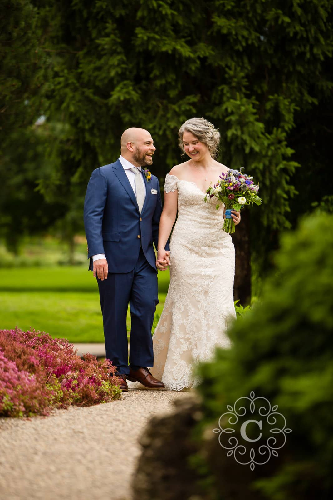 Lyndale Peace Park Garden Wedding Photo