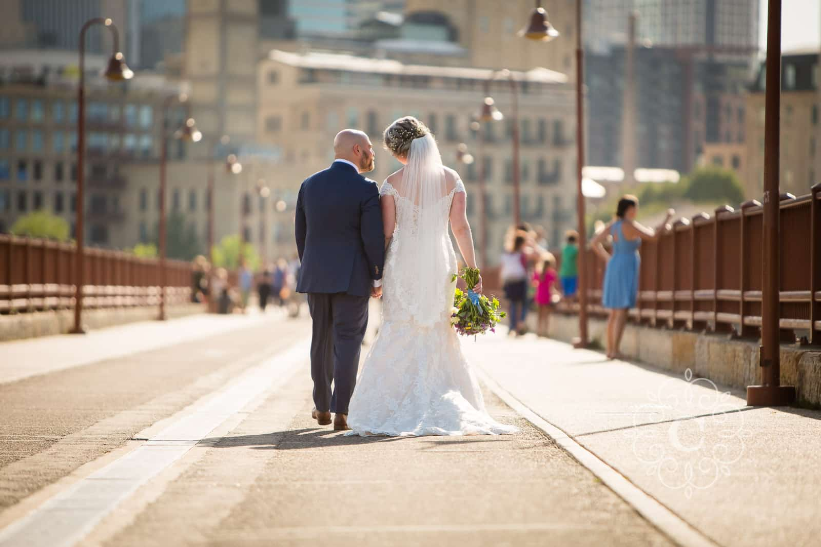 Stone Arch Bridge Minneapolis Wedding Photo