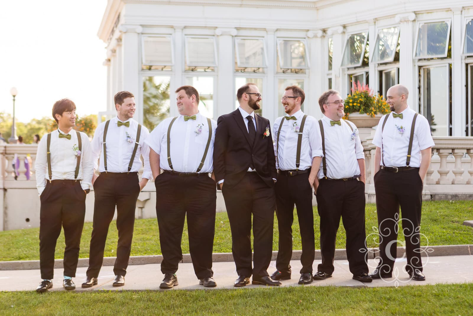Como Park Conservatory Wedding Photo