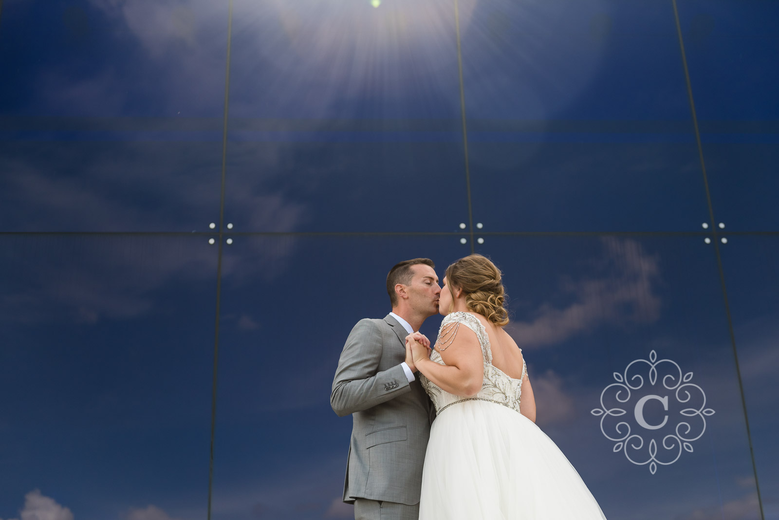 Guthrie Theater Endless Bridge Wedding Photo