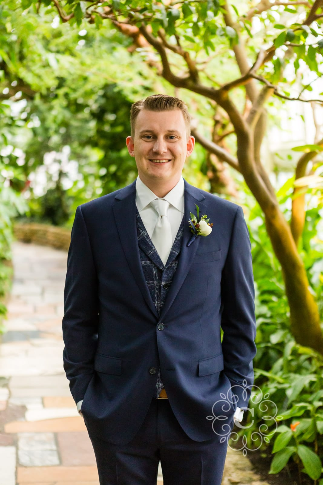 Marjorie McNeely Como Park Conservatory Wedding Photo