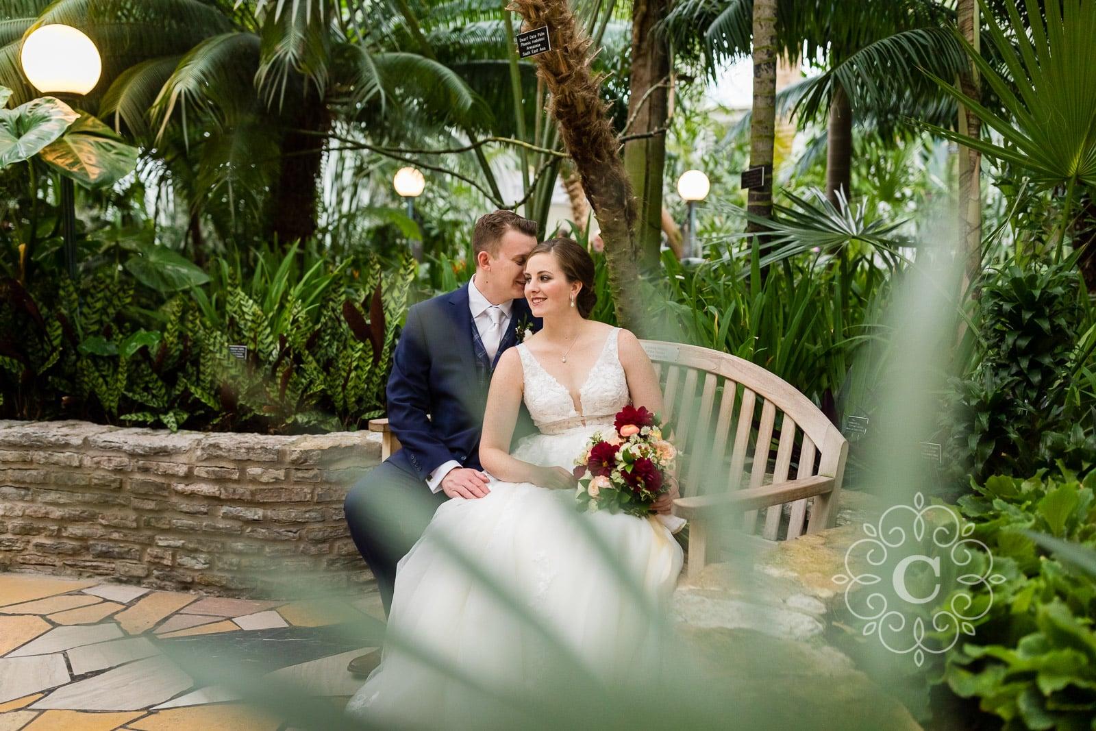 Marjorie McNeely Como Park Conservatory Wedding Photo