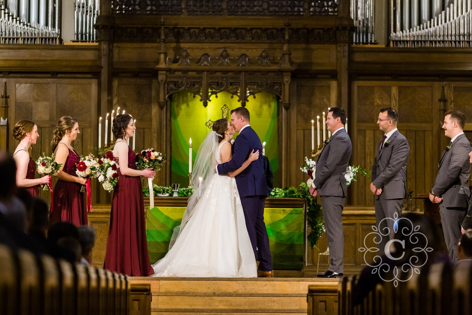 Hamline Church United Methodist Wedding Photo