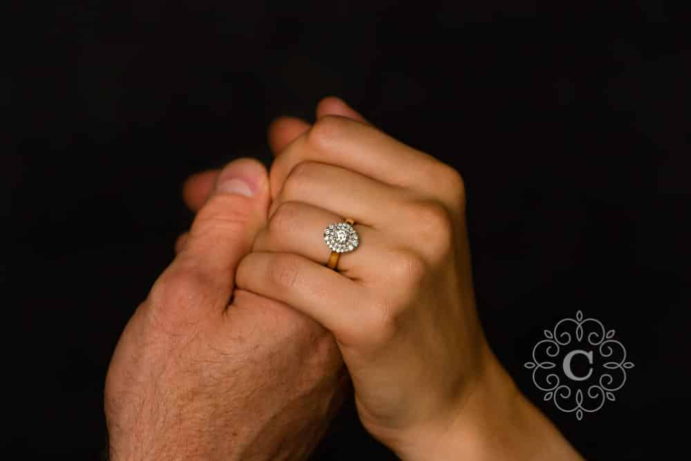 Fine Art Studio Engagement Photography