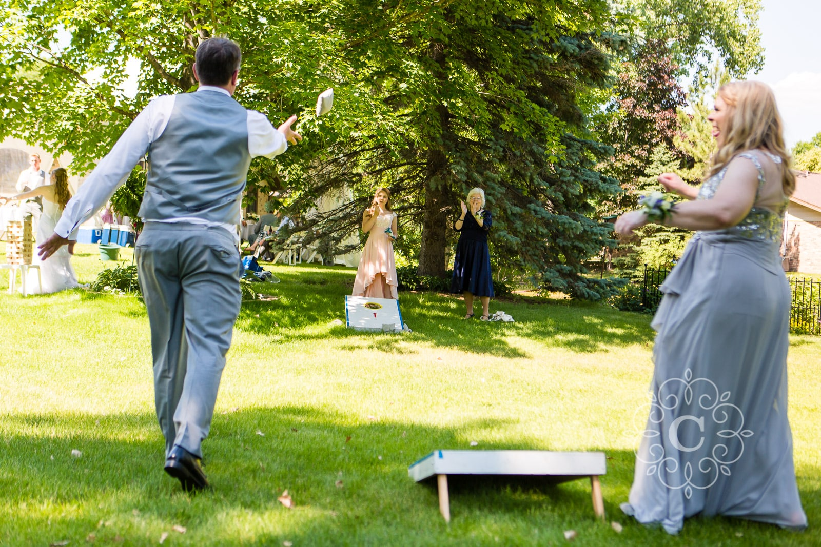 Home Backyard MN Wedding Photos