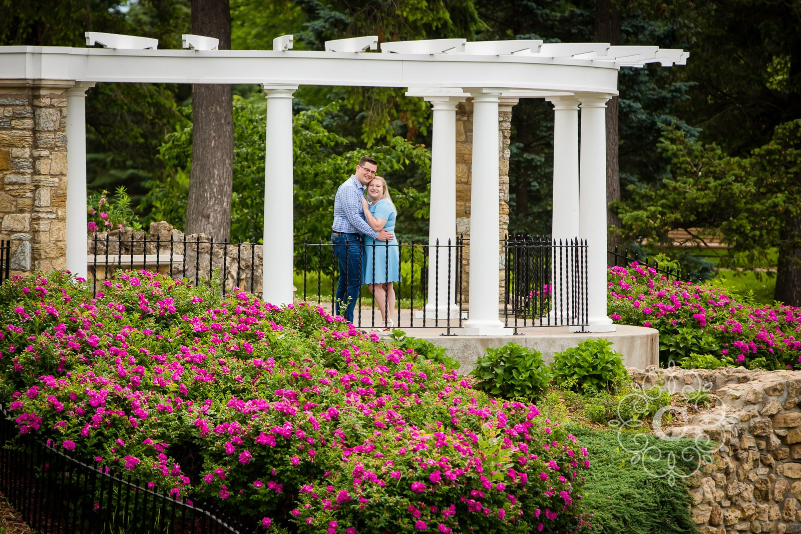 Como Conservatory Engagement Photography