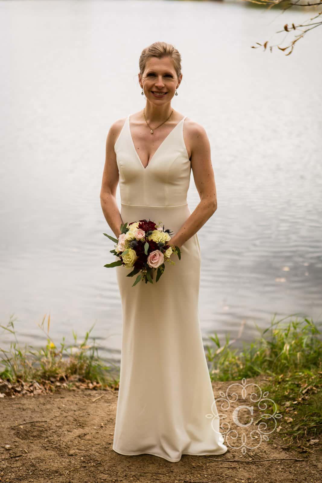 Minnesota Lakeside Back Yard Wedding Photo