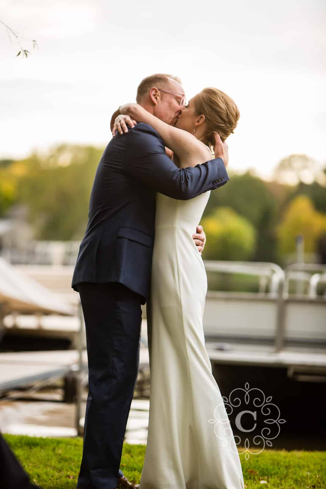 Minnesota Lakeside Back Yard Wedding Photo