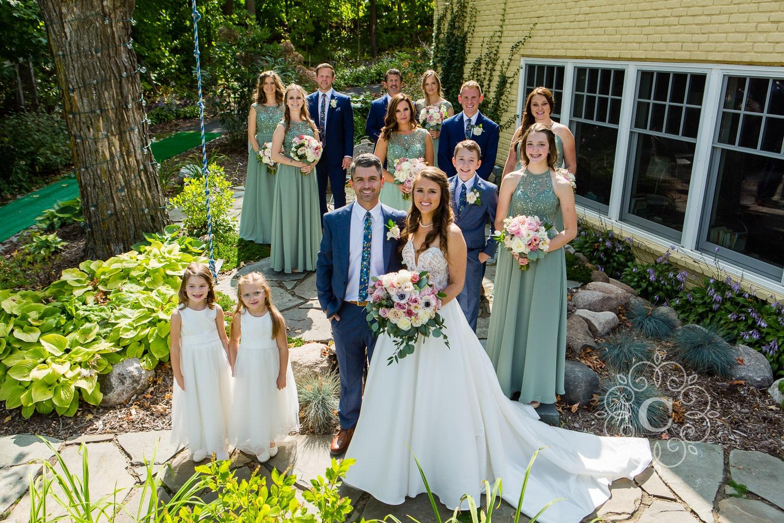 MN Backyard Lakeside Wedding Photo