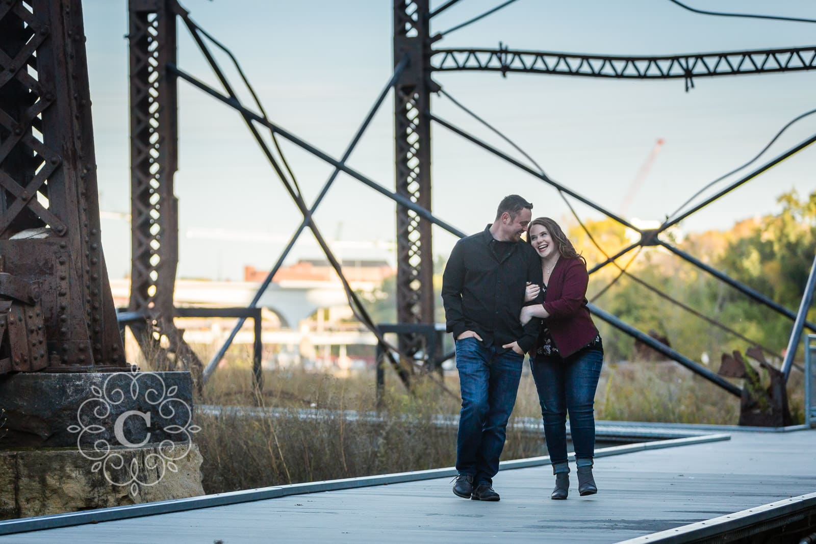 Mill Ruins Park Minneapolis Engagement Photo