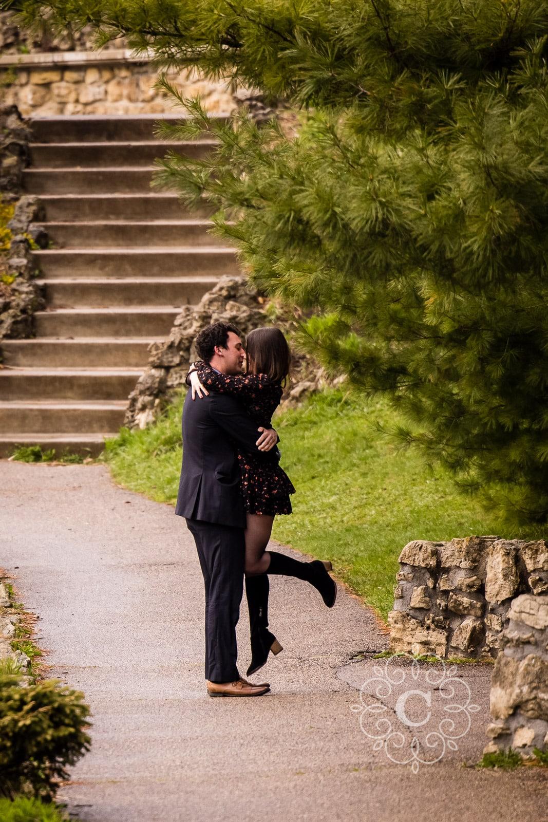 Proposal Engagement Photo Como Park MN