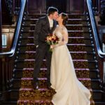 Stemple Mansion Stairway Wedding Couple Photo