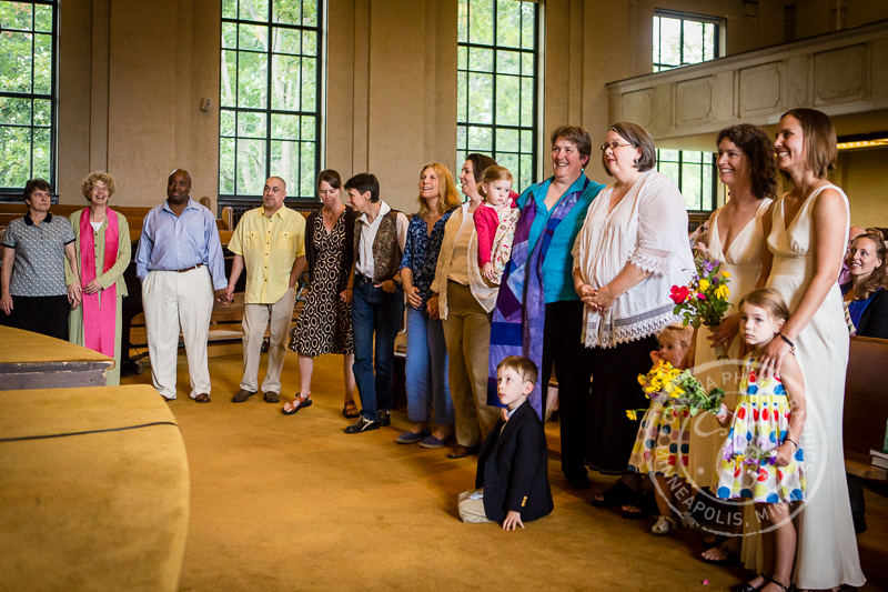 GLBT wedding couples church service