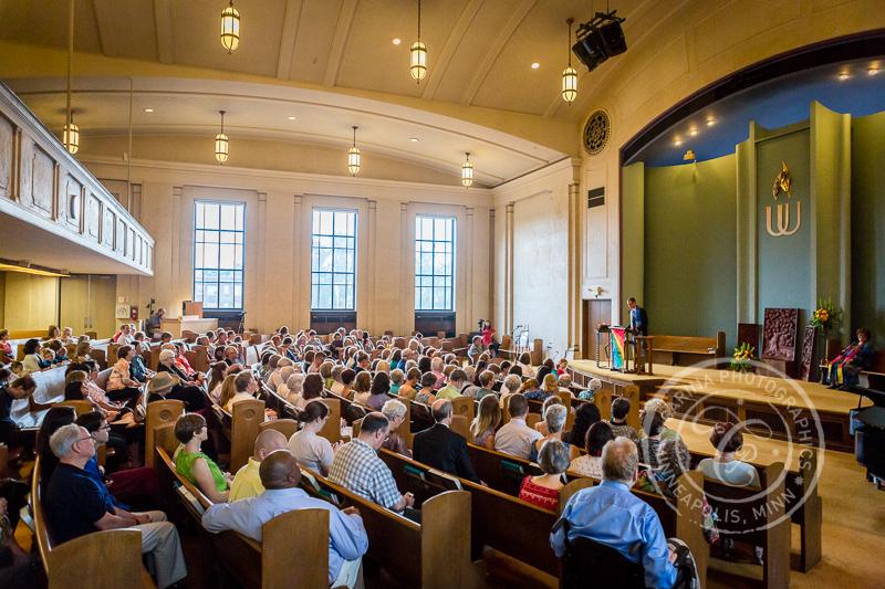 First Universalist Unitarian Church of Minneapolis service sanctuary