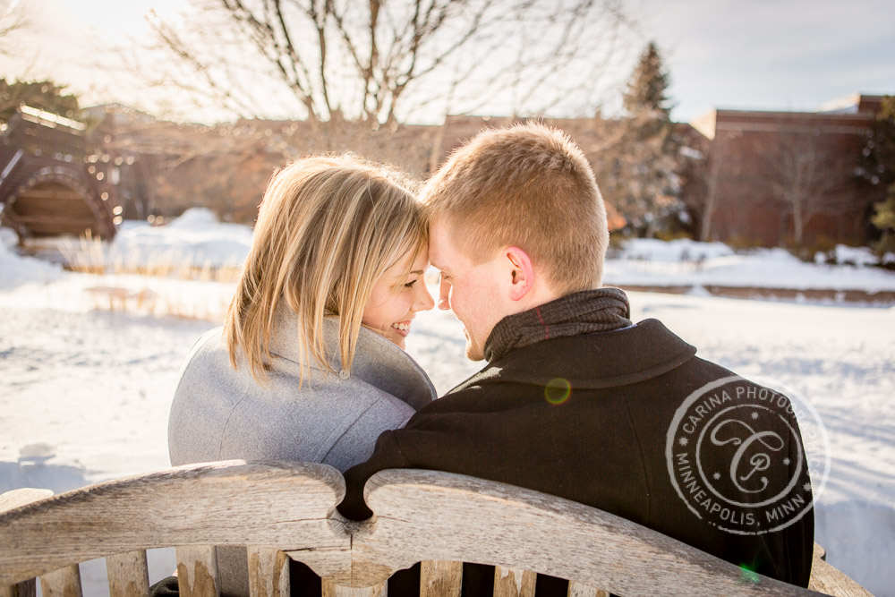 Centennial Lakes Park Edina MN engagement photo