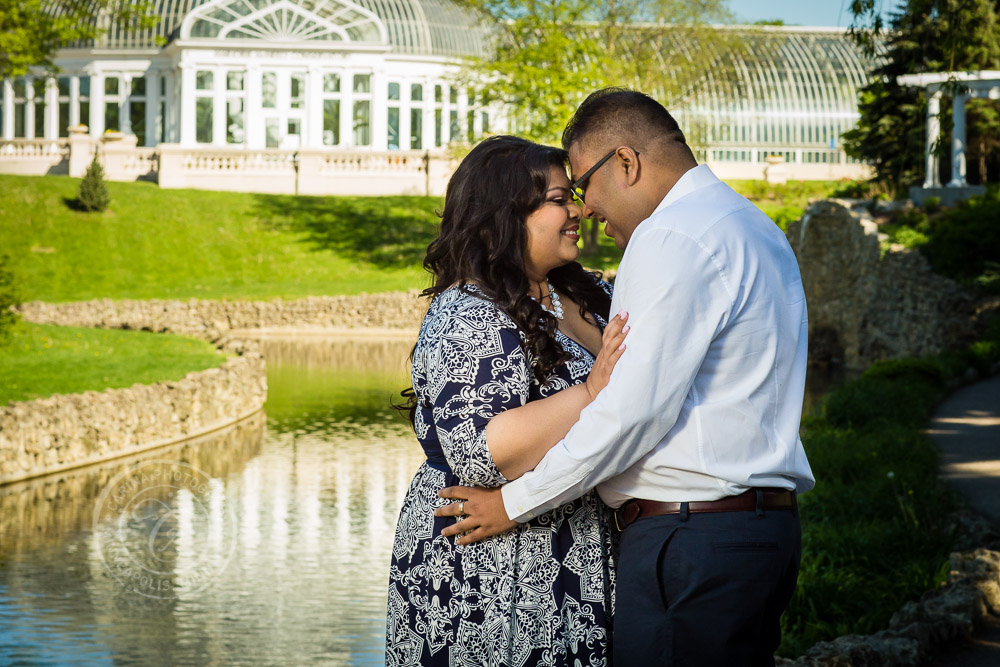 Como Park St Paul MN Engagement Photo