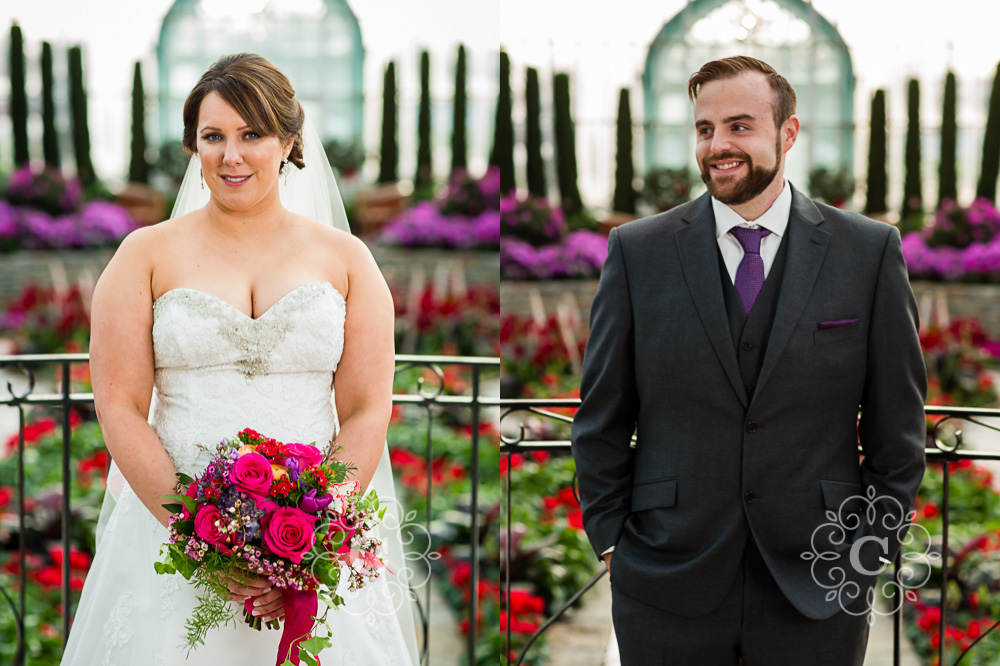 Como Park Conservatory St Paul MN Wedding Photo