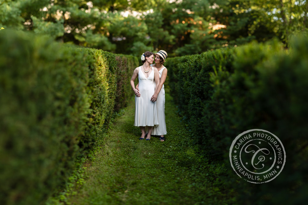 Formal Garden Wedding Minneapolis MN Photo