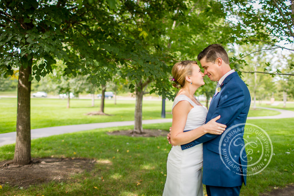 Gold Medal Park Minneapolis MN Wedding Photo