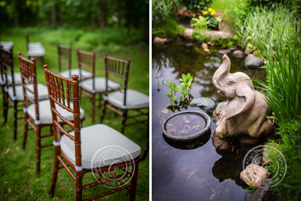 Wedding Ceremony Chairs Pond