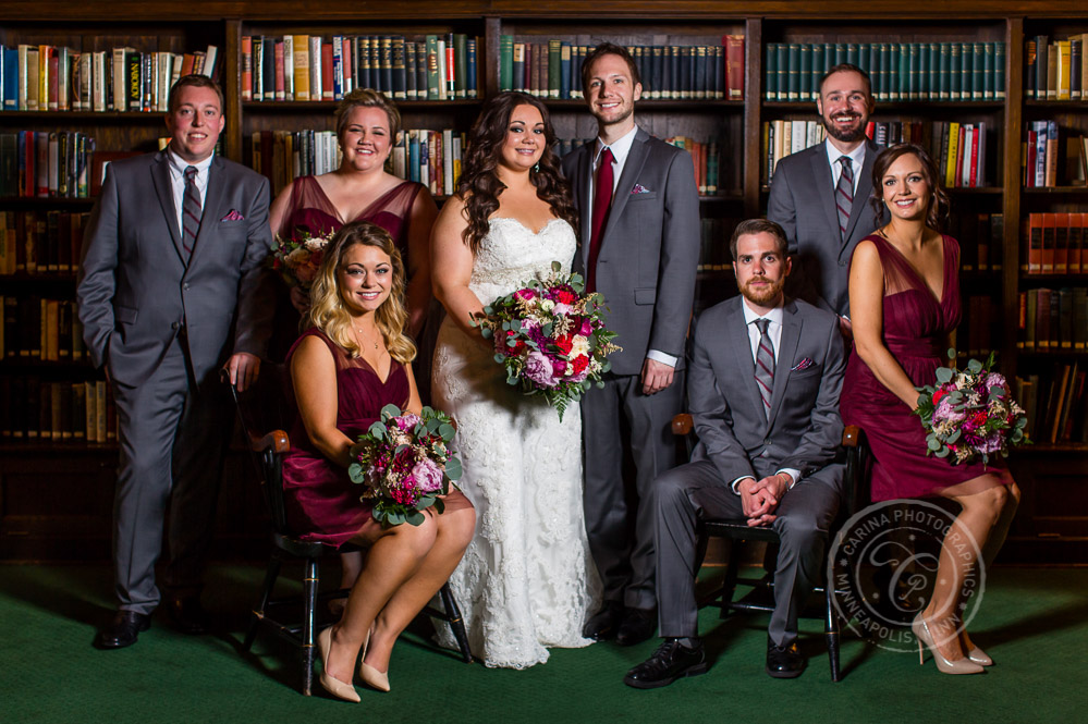 Minneapolis Club Wedding Photo