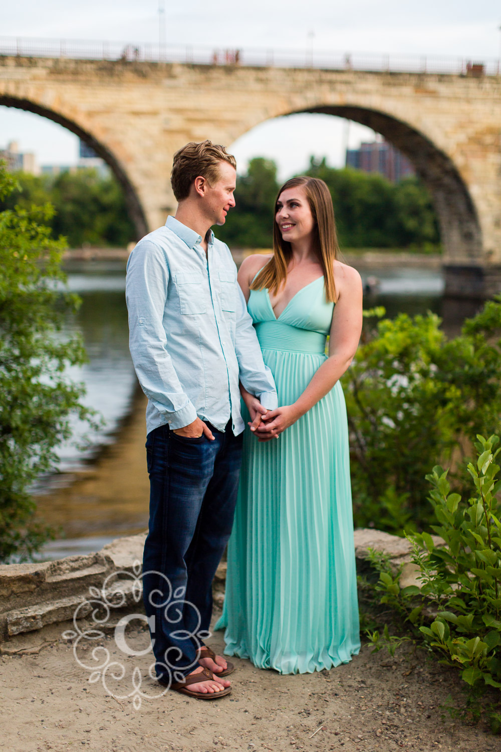 Father Hennepin Bluffs Engagement Photo