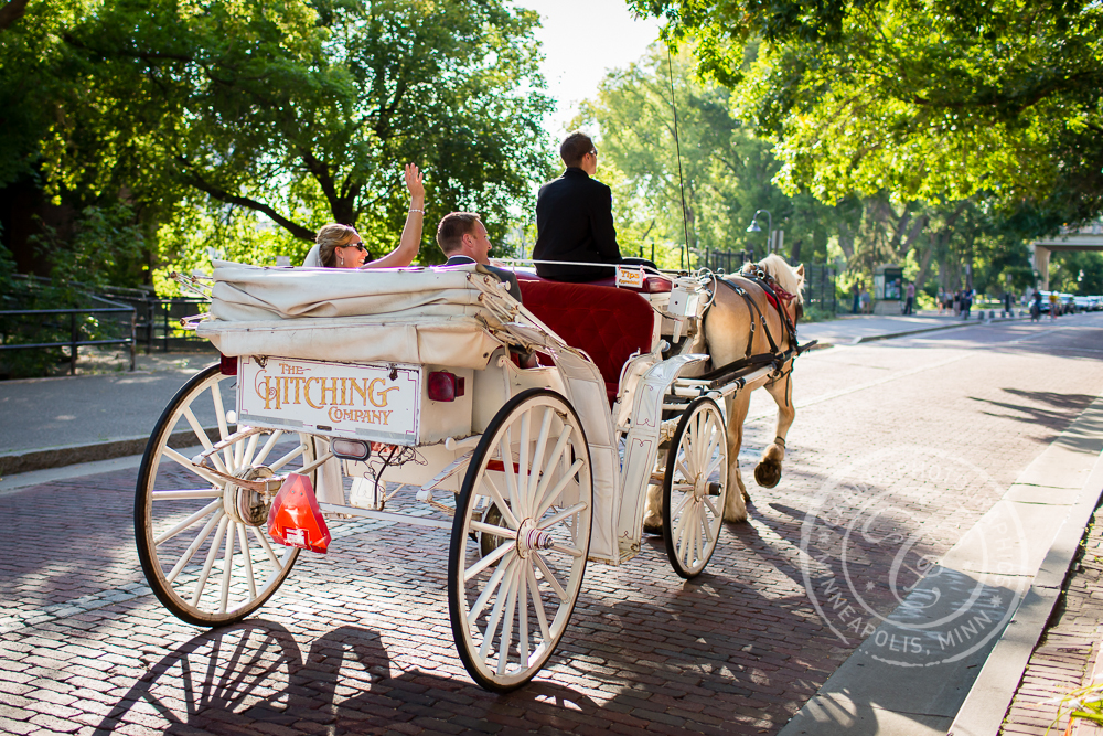 Minneapolis St Anthony Main Wedding Carriage Ride