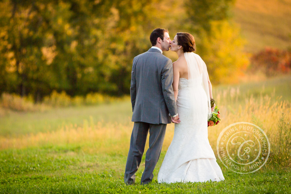 Minnesota Vineyard Winery Wedding Photo