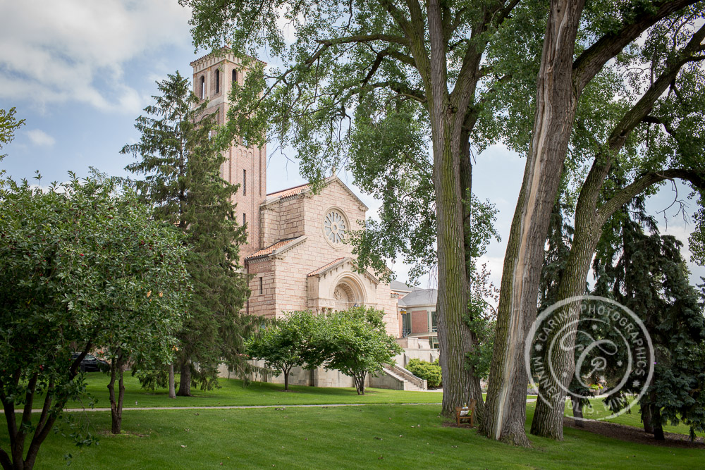 Wedding at Our Lady of Victory Chapel, St Paul MN, at St Catherine University