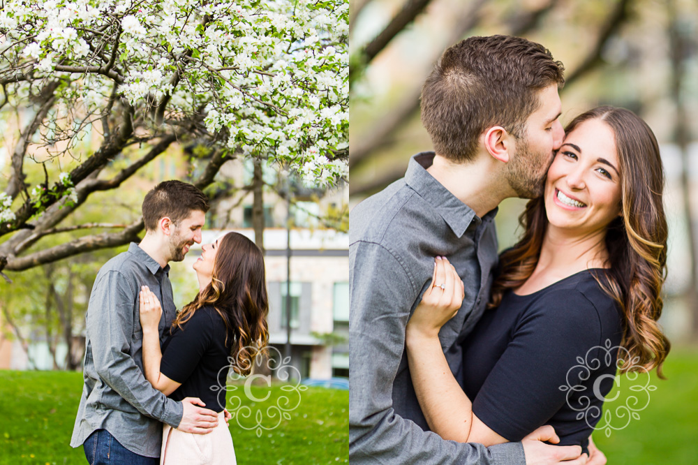 Saint Anthony Main Minneapolis Engagement Photos