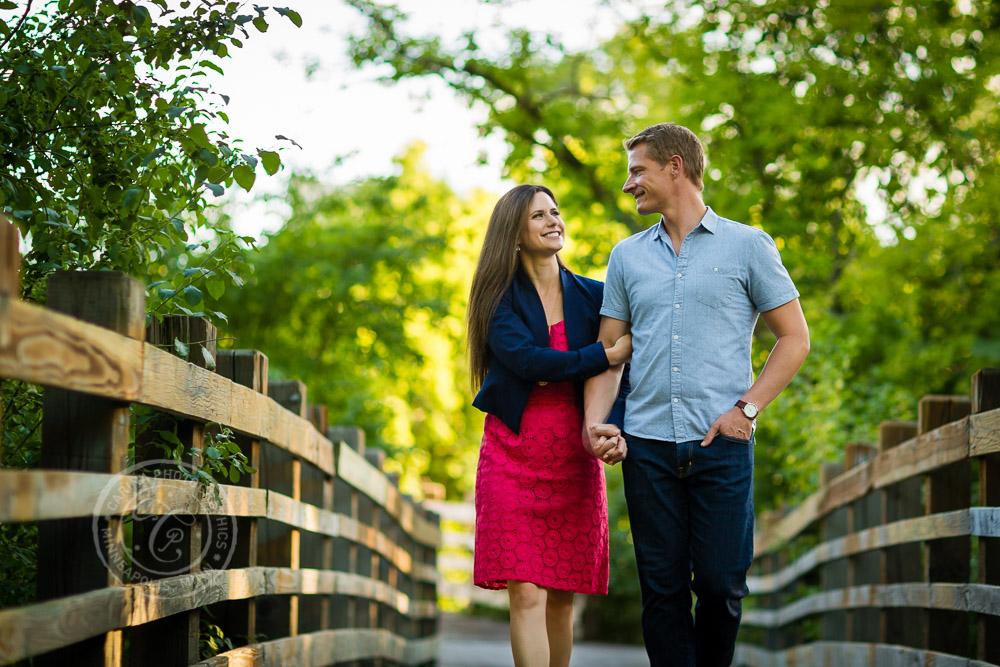 Minneapolis Stone Arch Bridge Engagement Photo