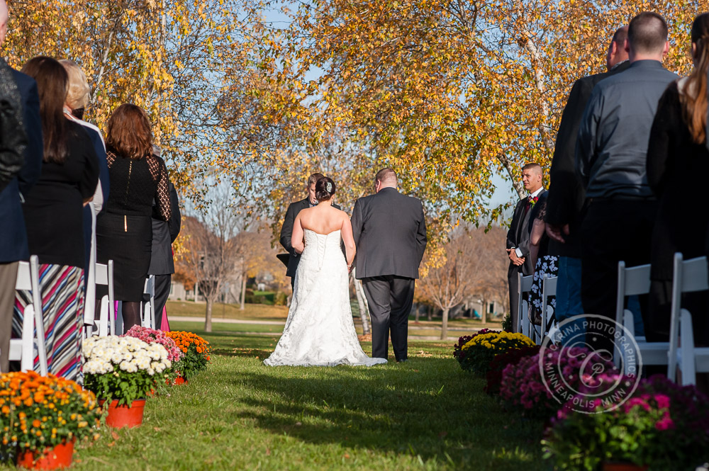 TPC Twin Cities Wedding Bride Groom Photo