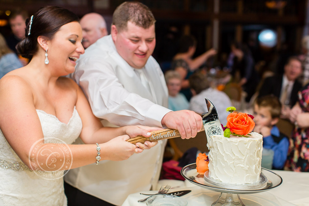 TPC Twin Cities Wedding Bride Groom Cake Photo