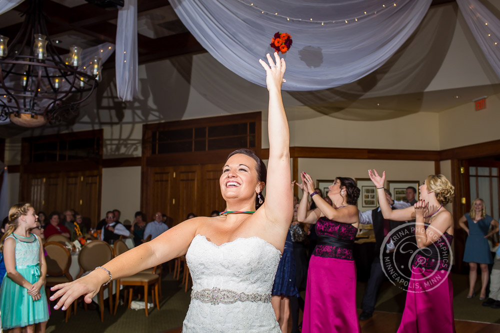 TPC Twin Cities Wedding Bouquet Toss Photo